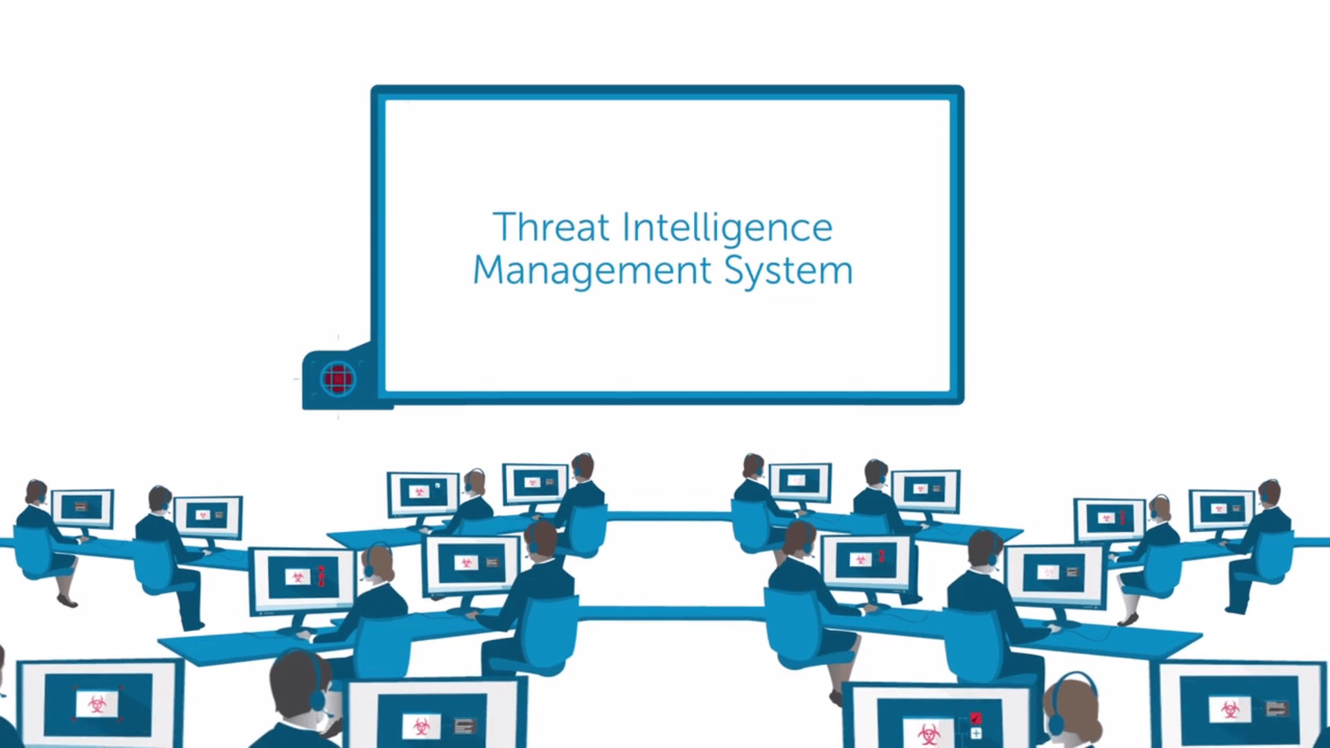 Threat intelligence management system, analysts in SOC monitoring and providing actionable guidance.