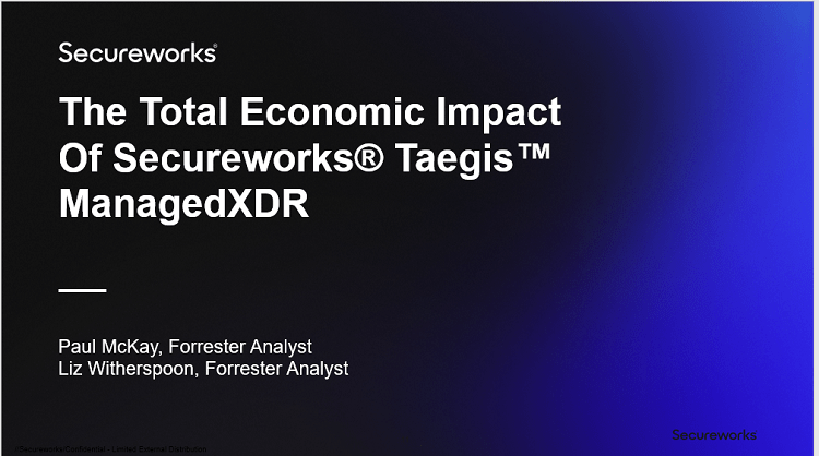 The Total Economic Impact™ of Secureworks® Taegis™ ManagedXDR